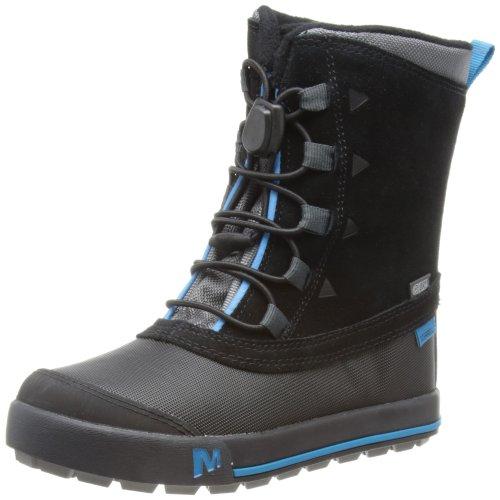Merrell Snow Bank Waterproof Kids J95501, Unisex-Kinder Stiefel Schwarz (Black)