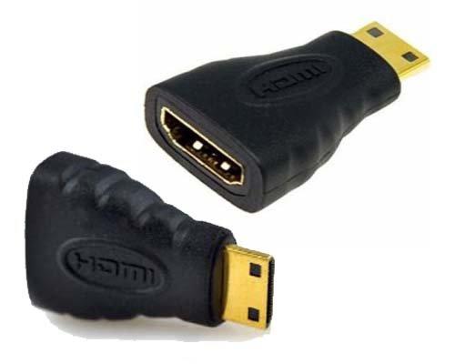 Preisvergleich Produktbild m-one Mini HDMI zu HDMI Adapter Konverter für–Canon D-SLR EOS 1300D–Digital kamera/Weg, um Connect Ihre Kamera, um TV, Beamer