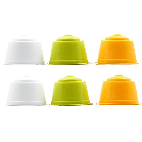 6 tazas / pack recargable de café Dolce Gusto rellenar de la cápsula más de 200 veces Dolce Gusto reutilizables cápsula de café