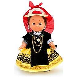 Folk Artesanía Muñeca artesana de 15 cm con Vestido Regional típico Abulense (Ávila)