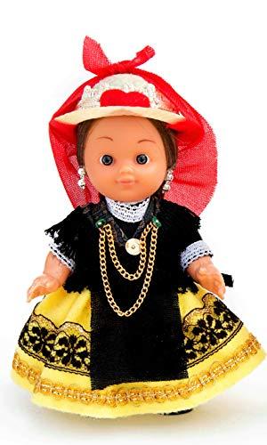 Folk Artesanía Muñeca artesana de 15 cm con Vestido...
