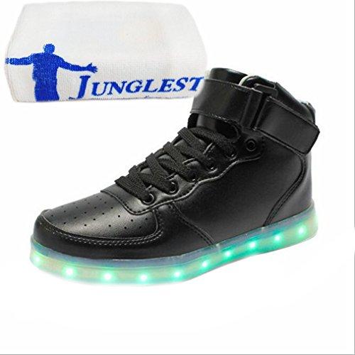 [Présents:petite serviette]JUNGLEST® 7 Couleur Mode Unisexe Homme Femme USB Charge LED Lumière Lumineux Clignotants Chaussures de ma c20