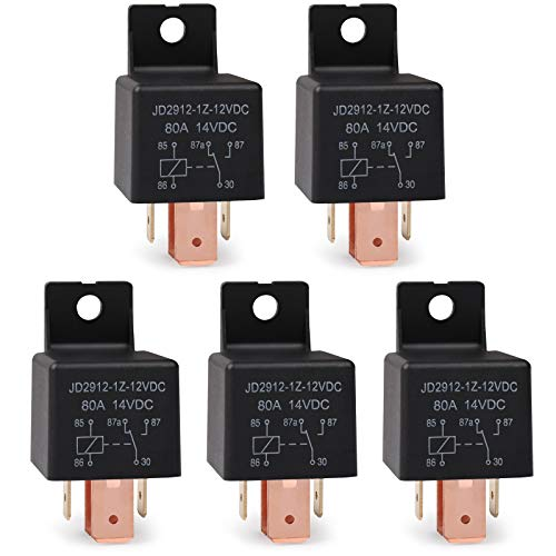 Ehdis® [5 Pack Interruptor 5-Pin del Coche del vehículo JD2912-1Z-12VDC 80A 14VDC...