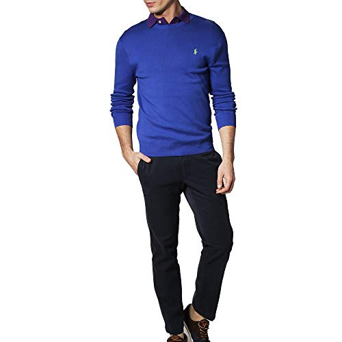 Ralph Lauren Jersey Pima C-Neck Slim Fit (S, Blue Saturn)