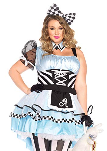 Leg Avenue 85225X - Psychedelic Alice Damen kostüm , Größe 3X-4X (EUR 48-50),  Damen Karneval - Übergröße Fantasy Kostüm