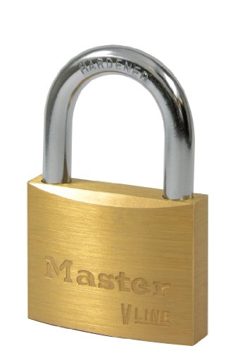 Master Lock V Line 32325 - Candado de latón, Cierre con Llave Maestra