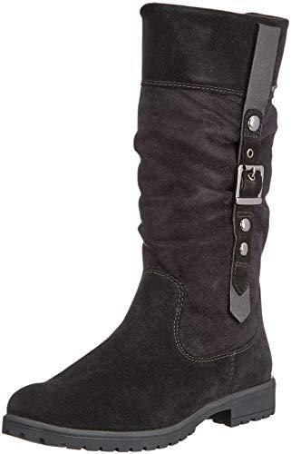 Leder Stiefel Für Mädchen - Superfit Mädchen Galaxy Schneestiefel, Schwarz (Schwarz