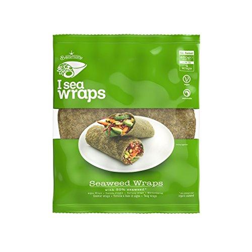 Seamore Algen Wraps I Sea Wraps, 4 Tortillas á 70 g | Bekannt aus Galileo | Low Carb, Vegan, Nachhaltig & ohne Gentechnik