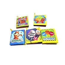 ‏‪XD-1 Baby Soft Fabric Cloth Book Set of 6 Nontoxic for 0-3yrs Old Babies [Rag Book] Unknown‬‏