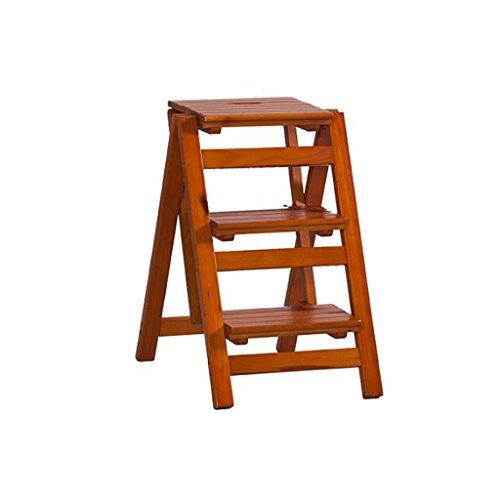Sgabello Legno Pieghevole.Passo Sgabello Pieghevole Scaletta Sgabello 3 Gradini Solido Legno Fiore Mensola Multifunzione Indoor Famiglia Ascend Ladder Piccolo Sgabello Sgabello