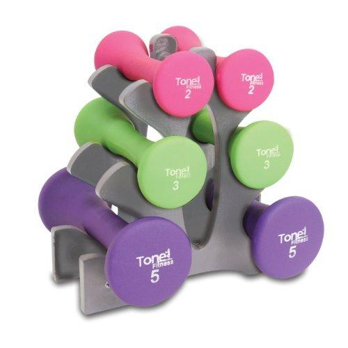 Tone Fitness Hantel-Set, 9 kg (Cap Hantel Gewicht Set)