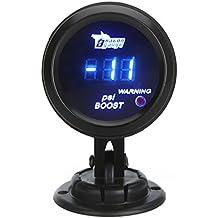 KKmoon Manómetro Digital Turbo Boost Gauge Medidor con Sensor para Auto Coche 52mm 2in LCD -14~29 PSI Luz de Advertencia