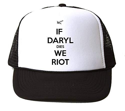 2f9b40dc17599 KRISSY If Daryl Dies We Riot Quote Baseball Cap Hat Gorra Unisex One Size