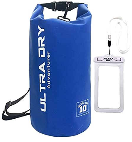 Premium Waterproof Bag, Sack with phone dry bag and long adjustable Shoulder Strap Included, Perfect for Kayaking / Boating / Canoeing / Fishing / Rafting / Swimming / Camping / Snowboarding (blue, 10 L)