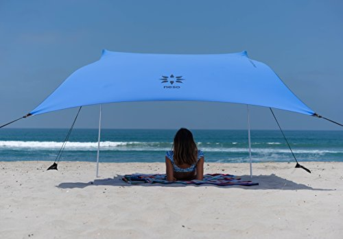 Beach Tent with Sand Anchor, Portable Canopy for Shade - Multiple Colors (Periwinkle Blue)