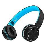 Auriculares Bluetooth Inalámbrico con Cancelación Ruido, MeihuaTu Sobre oreja Audífonos estéreo de Hifi con micrófono incorporado para Iphone 8/7/x/6, tabletas PC Samsung Huawei Xiaomi TV / Mp4 (Azul)