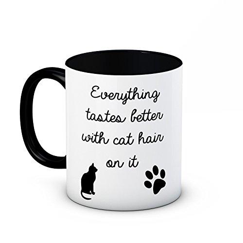 Todo gustos mejor con pelo de gato en taza de té de café de alta cal