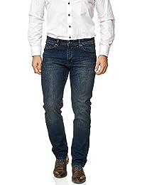 BARBONS Herren Jeans - Bügelleicht - Regular-Fit Stretch - Business Freizeit Büro - Hochwertige Jeans-Hose für Männer