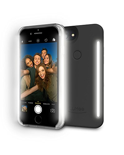 LuMee - Cover Duo per iPhone, Black Matte, iPhone 6/6S/7/8
