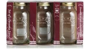 Ravenhead 1 Litre Kilner Preserve Jar, Sleeve of 3