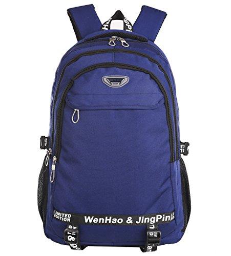 Super Modern Wander-Rucksack, unisex, Wasserdicht, aus Nylon, Sport-Rucksack, Laptop-Tasche Größe L blau