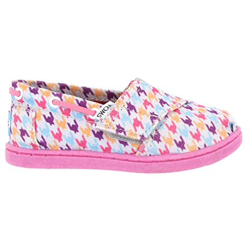 TOMS Tiny Slip-On Shoes in Multi Houndstooth, Size: 11 M US Little Kid, Color Multi Houndstooth
