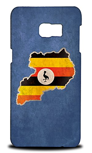 Price comparison product image Foxercases Design Uganda National Country Flag Hard Back Case Cover for Samsung Galaxy S6 Edge Plus