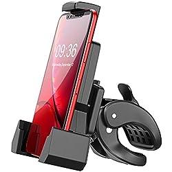 """Cocoda Soporte Movil Bici, Universal Soporte Teléfono Bicicleta con Brazos de Triángulos 360° Rotación Anti Vibración Porta Movil Moto para iPhone XS MAX/XR/XS/X, Samsung y Otro 4.7""""-6.5"""" Smartphones"""