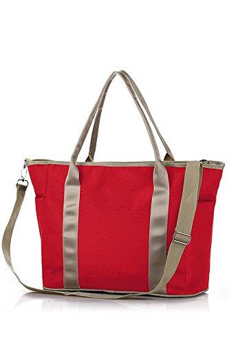 Multifunktionale Reisen im freien Portable Baby Windel Windel Storage Veranstalter Tasche Handtasche Cosmetic Bag Mumie Mutter-Baby-Tasche blau Rote
