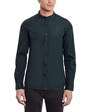 United Colors of Benetton Men's Slim Fit Cotton Casual Shirt (16A5AP15U008I_M_Dark Green-A22)