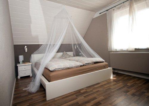 infactory m ckennetz doppelbett moskitonetz f r doppelbetten 190 mesh moskitonetz dachschr ge. Black Bedroom Furniture Sets. Home Design Ideas