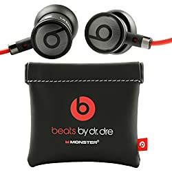 [Cable] beats by Dr.Dre Monster - Auriculares In-ear para HTC (3.5 mm Jack) color negro y rojo