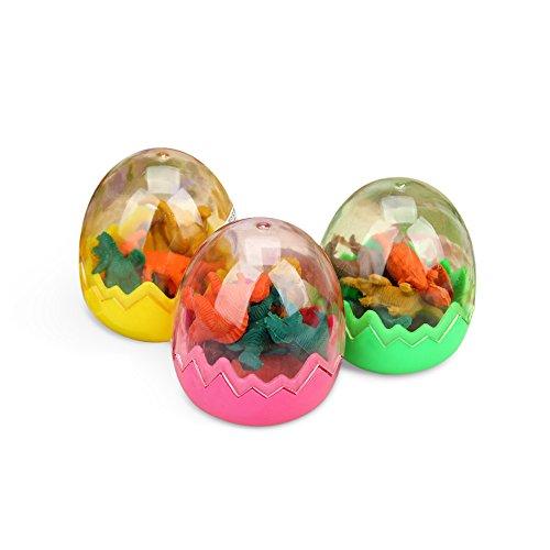 ini Tier Radierer Art Zeichnen Dinosaurier Eier Radierer Sets Bulk Spielzeug für Kinder Schule Geschenk (Bulk-neuheit-spielzeug)
