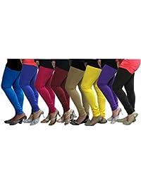 Pack of 8 Cotton Lycra Leggings Combo