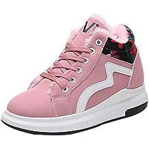 Logobeing Zapatos Mujer Invierno Cuñas Mujer Botines Mujer Cálido Floral Botas Deportivas de Alto Funcionamiento Plataforma