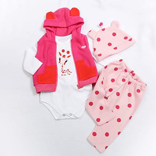 Binxing Toys 24 Zoll Reborn Puppe Kleinkind Kleidung, Prinzessin Kleid, Puppe zubehör für 24 Zoll (nur Kleidung Keine Puppe enthalten)