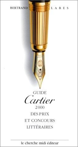 Guide Cartier des prix et concours littéraires