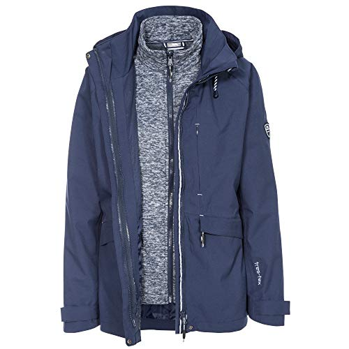 415F3dDd7pL. SS500  - Trespass Women's Cruising Waterproof 3-in-1 Jacket with Concealed Hood with Tie Adjusters and Detachable Inner Marl Fleece