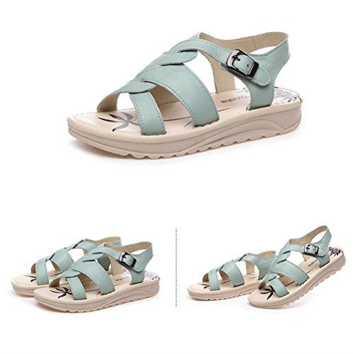 ALUK- Chaussures de plage Bottom ( couleur : Vert clair , taille : 37 ) Vert clair