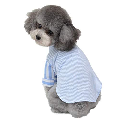 Muster Pudel Rock Kostüm - AMURAO Sommer-Haustier-Hundehemd-Kleiner Welpe kleidet Chihuahua-Pudel-Pomeranian-Katzen-atmungsaktives Hundekostüm