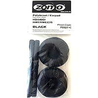 Zomo - Espuma de piel de repuesto para auriculares Sennheiser HD25, color negro