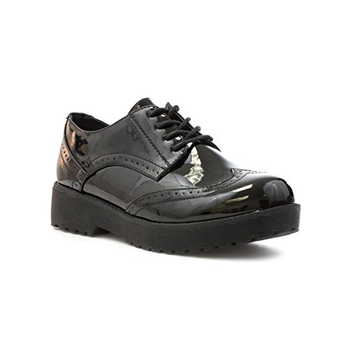 Lilley - Brogue donna , Nero (nero), 37 1/3