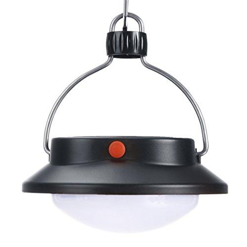 Groten Protable LED Outdoor Solar Power Hanging Camping Laterne Drehbare Lampen Licht (Protable-batterie)