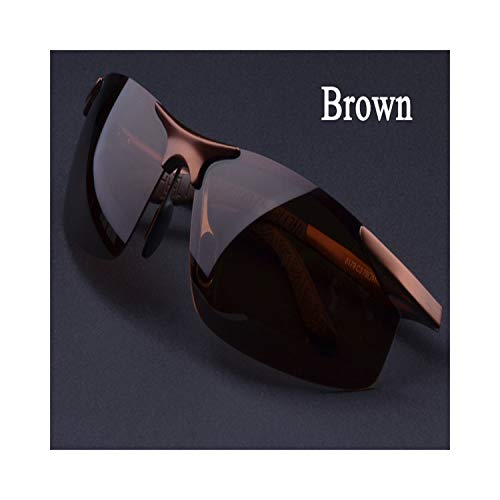 Sportbrillen, Angeln Golfbrille,Men's Driving Polarisiert Sunglasses Fashion Cool Eyewear Male Brand Designer Polaroid Oculos Sun Glasses Black Grey Silver Brown Brown