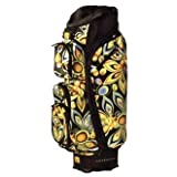 LOUDMOUTH Shagadelic 3.0 Golf Cart Bag Functional & Stylish Black/Multicolour