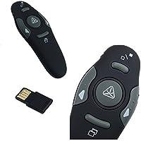Q4Tech Presentation Remote Wireless. Presenter con puntatore laser rosso. Remoto RF Wireless. Compatibile con PowerPoint e Keynote. Windows e Mac.