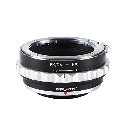 K&F Concept PK/DA-FX Objektivadapter Objektiv Adapterring für Pentax K/M/A/FA/DA Objektiv an Fujifilm X-Mount Bajonett Systemkamera(Fuji Finepix X-T1,X-E2,X-E1,X-A1,X-M1,X-Pro1) Zoom-fuji Finepix