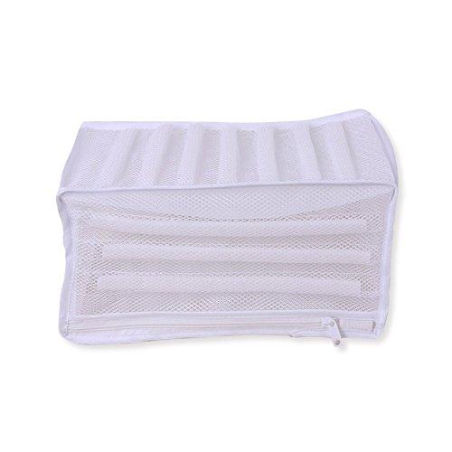 Zyurong Scarpe Lavaggio Borsa in Poliestere Mesh Sneaker Tennis Shoes Laundry Wash Bag White Wash Net Bag per Proteggere Le Scarpe nella Lavatrice