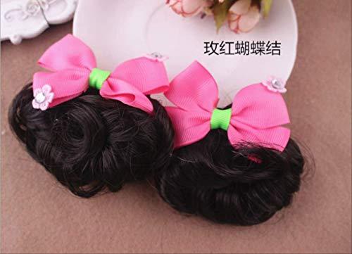 Mädchen geflochtene Baby Kopfschmuck Pille Kopf Perücke Verkauf der südkoreanischen Prinzessin Ring Flower Tide - Weibliche Cosplay Kostüm Zum Verkauf