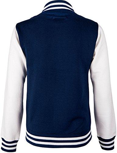 EZYshirt® Unisex Damen Herren & Kinder College Jacke Damen/Navy/Grau/Rot